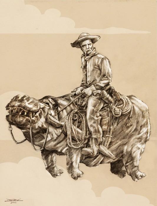 hippo cowboy